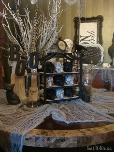 Spooky dining room (using a lot of items that can be found at Dollar Tree)