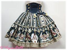 Angelic Pretty: Wonder Queen Skirt. Love the waist.