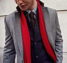 Try a sweater vest and mixing colors along the same palette.