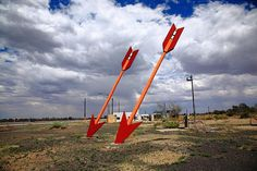 """Route 66 - Twin Arrows Trading in Arizona. """"The Fine Art Photography of Frank Romeo."""""""
