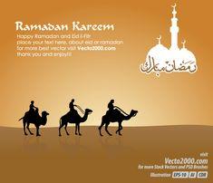 Free Islamic Greeting Card for Ramadan Kareem Vector