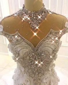 Crystal Wedding Dresses, Evening Dresses For Weddings, Cheap Wedding Dress, Dream Wedding Dresses, Bridal Dresses, Wedding Gowns, Lace Wedding, Luxury Wedding Dress, Wedding Bikini