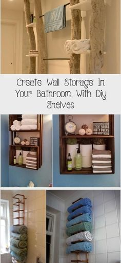 Create Wall Storage In Your Bathroom With Diy Shelves - Home Decor Diy Wine Glass Shelf, Glass Shelves In Bathroom, Toilet Shelves, Floating Glass Shelves, How To Clean Furniture, Find Furniture, Rustic Shelving Unit, Living Room Cabinets, Kitchen Cabinets