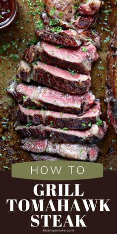 Tomahawk steak is meant for reverse searing on the grill. It will ensure the a juicy, tender steak every time. Every bite is sheer perfection! #grill #smoker #traeger #pelletgrill #reversesear #dinner #steak #beef Outdoor Cooking Recipes, Grilling Recipes, Beef Recipes, Traeger Recipes, Grilling Tips, Best Easy Dinner Recipes, Quick Easy Meals, Spring Recipes, Easy Recipes