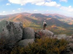The granite dome of Old Rag Mountain in Shenandoah National Park easily ranks among Virginia's most scenic summits.  National Park Service