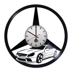 Mercedes Handmade Vinyl Record Wall Clock - VINYL CLOCKS