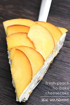 Fresh Peach No-Bake Cheesecake - Real Housemoms