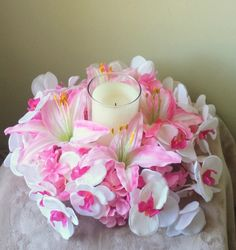 Lily  Orchid Candle RingLily Orchid by FlourishingFlower on Etsy, $49.95