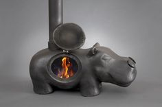 hippo stove by graham parker ansell