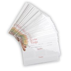 Samsill 100 Recipe Cards + 100 Recipe Card Protective Sleeves, x Clear Card Sleeves and x Recipe Cards