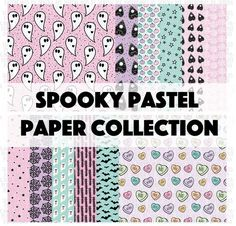 Halloween. Spooky Pastel Printable Scrapbook Collection, October Daily. Halloween collection Papercakes by Serena Bee