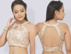 12 Latest Halter blouse designs for Sarees and lehengas - Halter blouse designs. - 12 Latest Halter blouse designs for Sarees and lehengas – Halter blouse designs for sarees and l - Saree Jacket Designs Latest, Saree Blouse Neck Designs, Fancy Blouse Designs, Blouse Patterns, Saris, Shagun Blouse Designs, Blouse Designs Catalogue, Saree Jackets, Stylish Blouse Design