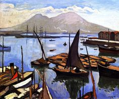 The Port of Naples / Albert Marquet - 1909