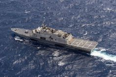 USS Fort Worth (LCS 3) transits the South China Sea in July 2015 during a 16-month rotational deployment in support of the Indo-Asia-Pacific rebalance. US Navy photo.