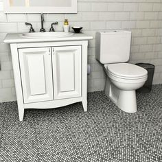 Merola Tile Comet Penny Round Luna 11-1/4 in. x 11-3/4 in. x 9 mm Porcelain Mosaic Tile
