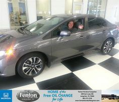 Thank you to Shelly Lockwood on your new 2014 #Honda #Civic Sedan from Alton Mcalister and everyone at Fenton Honda of Longview! #NewCar