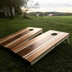 Stained Cornhole boards corn hole board Toys and Games