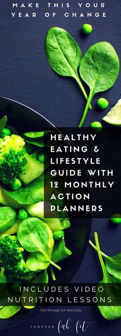 The 2016 Healthy Eating & Healthy Lifestyle Guide with 12 monthly Action Planners created by a dietitian/nutritionist. It includes video lessons to teach you the principles of healthy eating. You'll also learn how to use the action planner to get focused, motivated and to track your food & exercise, as well as your progress. Action planners contain monthly/daily view calendar, goal setting worksheets, daily food/exercise logs and weekly meal planning worksheets. CLICK through for details.