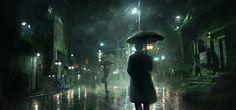 ArtStation - Rainy Night, Jonas De Ro