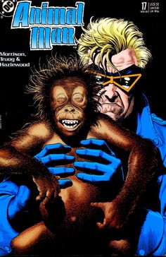 The cover to Animal Man #17 (1989), art by Brian Bolland