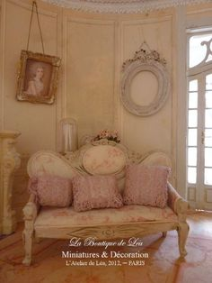 3 cushions romantic old-pink, embroidery and lace. €29.00, via Etsy.