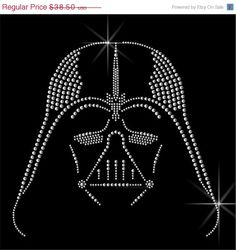 ON SALE Genuine Swarovski®  Hot Fix Crystals ''DARTH Vader'' Next Level Woman Tri-Blend Long Sleeve Scoop Tee.  Crystal Heat Transfer motif by CrystalTrendsDesigns on Etsy