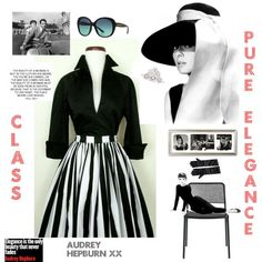 Audrey  Hepburn 💄 by kotnourka on Polyvore featuring moda and Tiffany & Co.