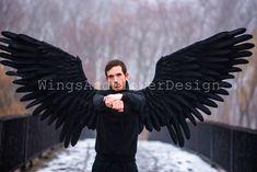 Black Angel Wings, Black Angels, Lucifer Wings, Wire Frame, Etsy, Dark Angels