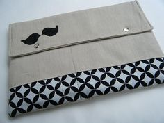 """Stache"" your laptop away in this cute cover. Hehe."