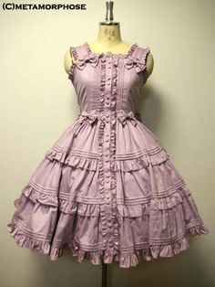 Metamorphose temps de fille   Jumper Skirt   Pintuck Tiered JSK Gothic  Lolita, Lolita Style 27286ec3733
