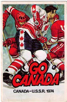 9 x 12 Metal Sign 1974 Canada vs. USSR Hockey Vintage Look Reproduction Montreal Canadiens, Hockey Teams, Hockey Mom, History Of Hockey, Canada Cup, Canada Canada, Hockey Posters, Ski Posters, Hockey Decor