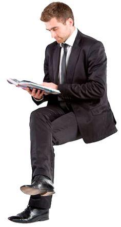 cutout man sitting