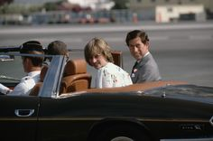 1981-08-01 Diana and Charles leaving Gibraltar's North Front Airport in an open car