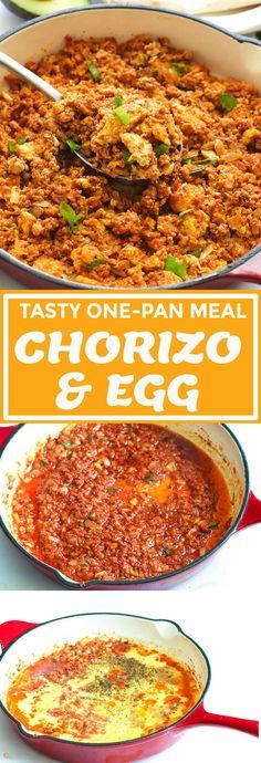 Chorizo and Eggs - Immaculate Bites - Food Recipe Beef Chorizo, Chorizo And Eggs, Mexican Chorizo, Chorizo Recipes, Chorizo Breakfast, Mexican Breakfast Recipes, Brunch Recipes, Mexican Food Recipes, Dinner Recipes