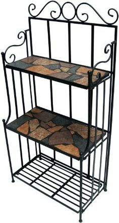 Terrapin Trading T1/TTU-68060 Mosaic Furniture Marbella Baker's Rack by Terrapin Trading. $123.07. Bases/frames are constructed of powder-coated steel. Contemporary design, European style. Made with care and of the highest quality. Tabletops fashioned from hand-cut ceramic tiles. Suitable for both garden and home. This premium-quality baker's rack is constructed of mosaic ceramic tiles and powder-coated steel base and is the perfect accessory to our mosaic bistro set.