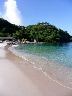 Buccament Bay Beach - Buccament Bay Resort, St Vincent & The Grenadines #Travel