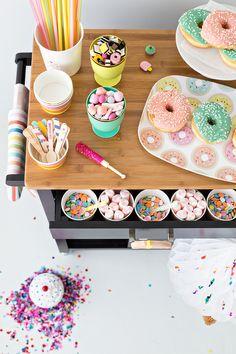 Carrito para personalizar los donuts