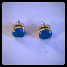 Green Kate Spade Earrings Emerald and 14k gold filled Kate Spade large earrings. kate spade Jewelry Earrings
