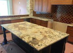 Large Geriba Gold Island Kitchen Remodel Home Decor