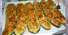 Zucchinis filled with tuna fish - Healthy Recipes New Recipes, Real Food Recipes, Cooking Recipes, Healthy Recipes, Fruits And Veggies, Vegetables, Good Food, Yummy Food, Healthy Alternatives