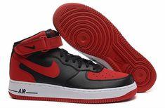 chaussure air force pas cher,air force 1 mid noir et rouge