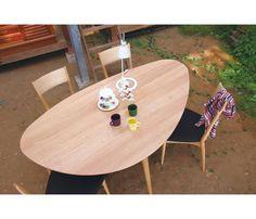 クラウム ダイニングテーブル | ACTUS Life Design, House Design, Come Dine With Me, Dining Room, Dining Table, Outdoor Furniture, Outdoor Decor, Furniture Ideas, Room Interior