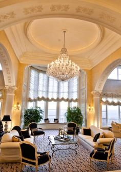 Luxury Mansions - elegant Living Room with high ceilings  http://www.womenswatchhouse.com/