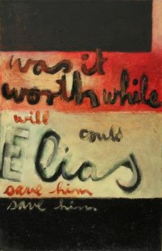 Was it worthwhile, 1959 - Colin McCahon Calligraphy Types, New Zealand Art, Nz Art, Hand Type, Art Themes, Naive Art, Postmodernism, Outsider Art, American Artists