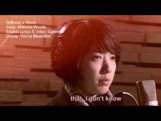 omgeee i like this c: [English Remake Karaoke] Without Words - Park Shin Hye Korean Drama Songs, Korean Dramas, Korean K Pop, Park Shin Hye, Top Videos, You're Beautiful, Karaoke, Kdrama, Lyrics