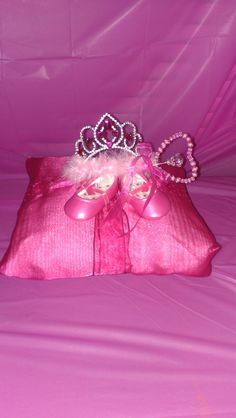 No-sew princess pillow center piece for baby shower