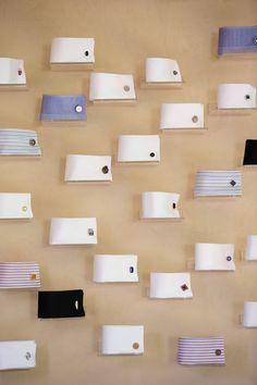 A very cool and creative way to display cufflinks.
