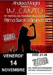 Venerdì 14 Novembre riparte In..Canto Il festival del Pianobar della Val D'Elsa