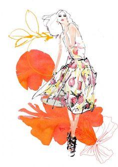 francesca waddell fashion illustration