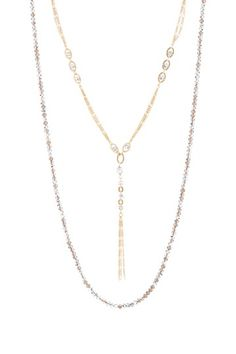 Gorjana Crystal Chain Layered Necklace by Non Specific on @HauteLook